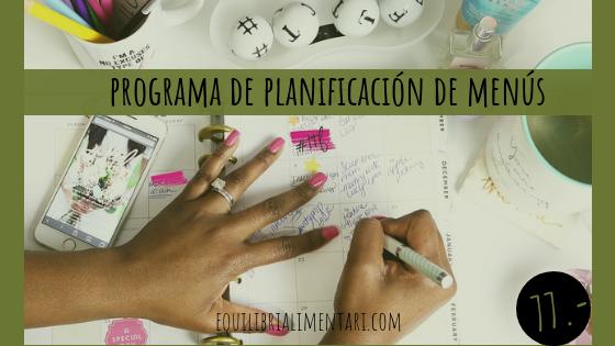 TALLER DE PLANIFICACIÓN DE MENÚS EQUILIBRADOS